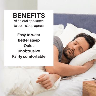 Benefits of sleep apnea oral appliances.