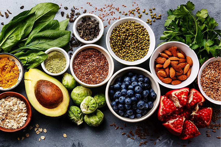 Anti-Inflammatory Diet including avocado, grains and nuts